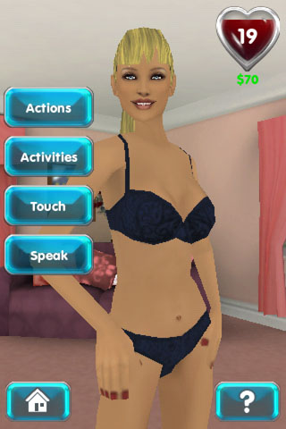 Interactive girlfriend game